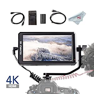 Feelworld F6 5.7 Inch Full HD On-Camera Monitor with 4K HDMI Input, with F550 Battery