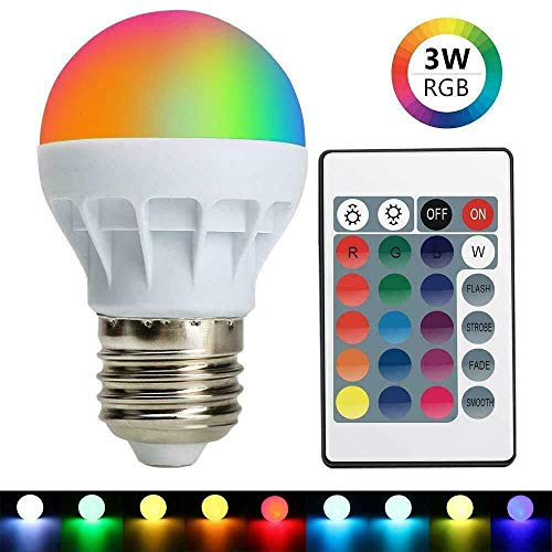 3W E27 16 Color RGB Magic LED Spot Light Bulb Lamp Remote Control for Home Decor- Sold by: Mike's Garage Sale Today!