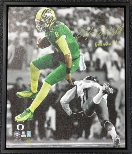 Marcus Mariota Autographed Signed Framed 20x24 Canvas Photo Oregon #/8 Mm 91860 Autographed College Art
