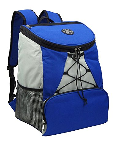 Large Padded Backpack Cooler - Fully Insulated, Leak and Water Resistant, Adjustable Shoulder Straps, Extra Storage Pockets - by GigaTent