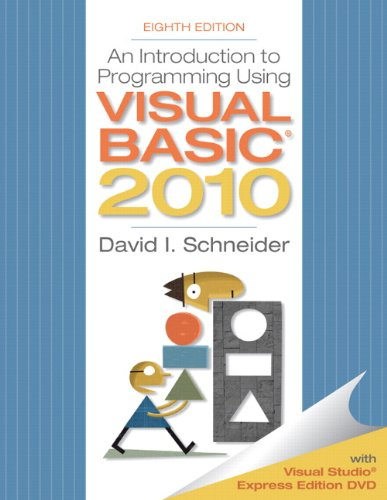 An Introduction to Programming Using Visual Basic 2010, 8th Edition by Pearson
