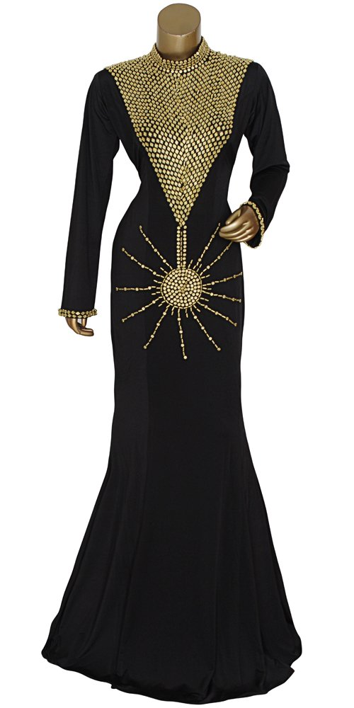 Shubham Fashions Women's New Kaftan Wedding Dress Abaya Free Size Black
