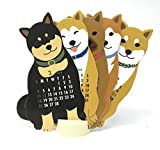 Japanese Shiba-inu Dog 2018 Die-cut Desktop Calendar