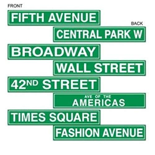 hersrfv home New York City Street Sign Cutouts Movie Red Carpet Awards VIP Party Decorations