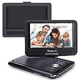 NAVISKAUTO 9'' Portable DVD Player with Car Headrest Mount Holder Support Sync Screen, 5-Hour, SD USB, AV Out & in, Region Free