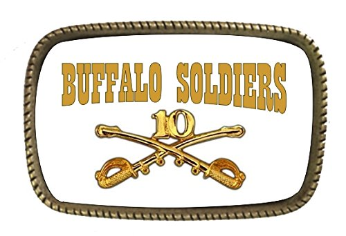 Buffalo Buckle (Buffalo Soldiers LOGO AND EMBLEM BRASS BELT Buckle Made In The)