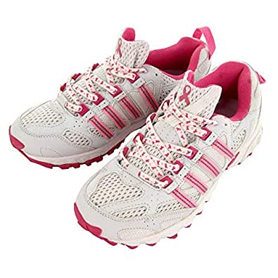 GreaterGood Pink Ribbon Cross-Training Shoes White Size: 6