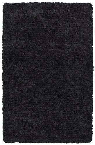 Hand Tufted Charcoal (Rizzy Home CO8368 Commons Hand-Tufted Area Rug, 8-Feet by 10-Feet, Transitional, Charcoal/Brown)