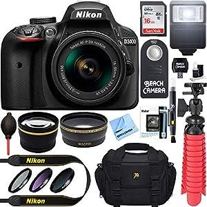 Nikon D3400 24.2MP DSLR Camera with AF-P 18-55 VR and 70-300m Lenses (1573B) – (Certified Refurbished)