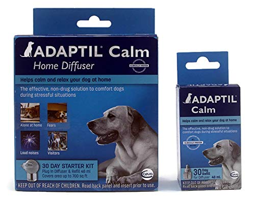 Adaptil Calm Home Diffuser & 2 Refills Dog Anti-Anxiety Product 60 Day Supply Bundle