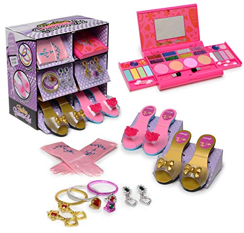 My First Princess Makeup Set WASHABLE with Mirror and Dress Up Role Play Collection - Includes