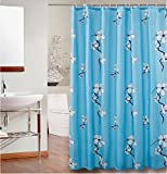JaHGDU Shower Curtain 1pcs Shower Curtain Printing Curtains Polyester Thickened Mildewproof Toilet Shade Super Quality Bathroom Amenities Opaque No Deformation Does Not Fade (Color : 150200cm)