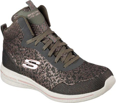 Skechers Damen Burst 2.0 - Fashion Forward Freizeitschuh Olive / Rosa
