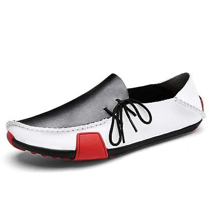 HhGold Calzado de Hombre Nuevo Cuero Primavera/Verano/Otoño Mocasines cómodos y Zapatos sin