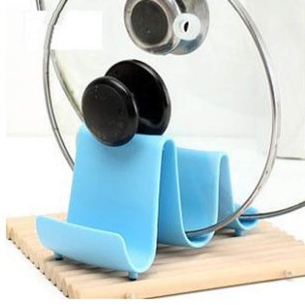 Ruipunuosi Wave Style Pan Pot Cover Lid Rack Spoon Pot Lid Stand Rack Kitchen Tools Creative Multifunctional Storage Rack