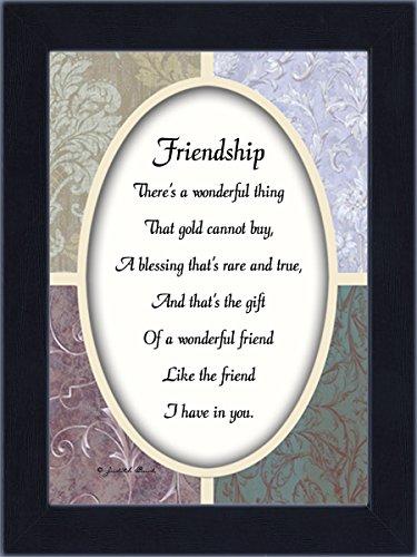 Bracelet Box Poem Gift (Vintage Friendship, Best Friend Gifts, Friends Picture Frame, 7x9 77923BC)