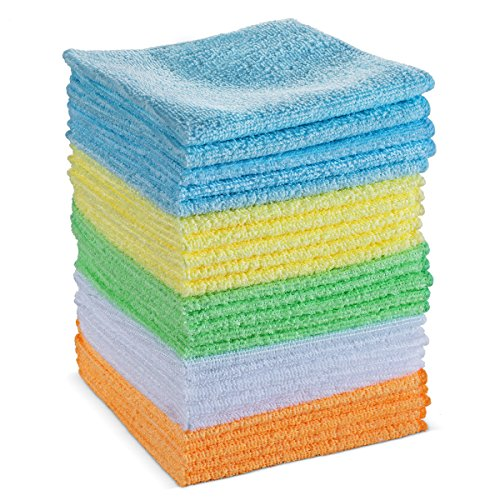 Commercial Microfiber Cleaning Cloth by BloominGoods - Multipurpose & Reusable Cleaning Towel, Perfect for Your Office, Store & All Other Cleaning Needs (100 Towel Commercial Bulk Pack)