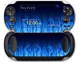 Sony PS Vita Skin Fire Blue by WraptorSkinz