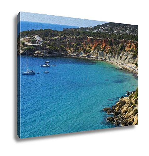 Ashley Canvas, A Panoramic View Of The Cala De Hort Cove In Ibiza Island Spain And Its, Home Decoration Office, Ready to Hang, 20x25, AG6536005 by Ashley Canvas