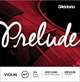 D\'Addario Prelude Violin String Set, 3/4 Scale, Medium Tension