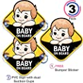 JOJO Baby on Board Safety Sign for Cars - Two PVC Sign, Dual Suction Cups, Free Bumper Sticker Included, Nice Gift Parents, Through Smart Vision Group