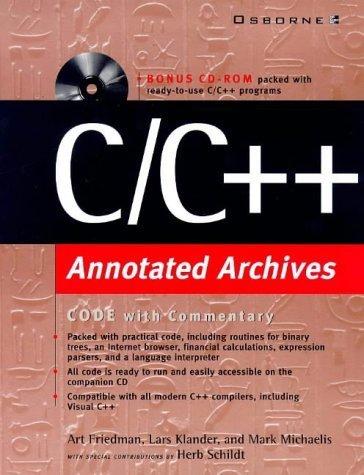c-c-annotated-archives-by-friedman-art-klander-lars-michaelis-mark-schildt-herb-1999-paperback