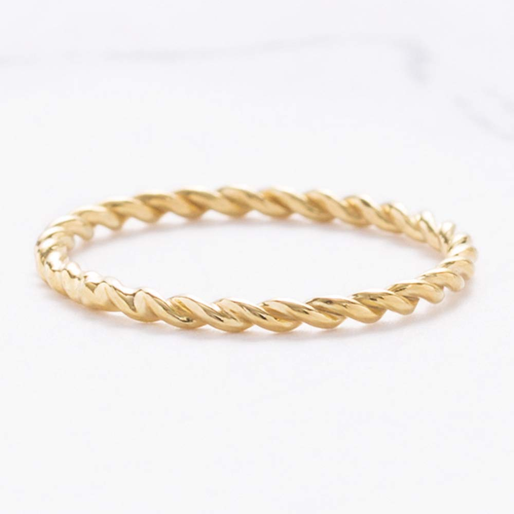 Amazon.com: Graceful Rings Gix Minimalist•Silver Rings ...