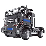 SZJJX RC cars 2 in 1 Building Blocks Kits 4CH 40MHz Rechargeable Remote Control Racing Electric Vehicle Jeep SUV Pick Up Truck Buildable Toys Construction Bricks Set 483 PCS DIY Assembly 8008