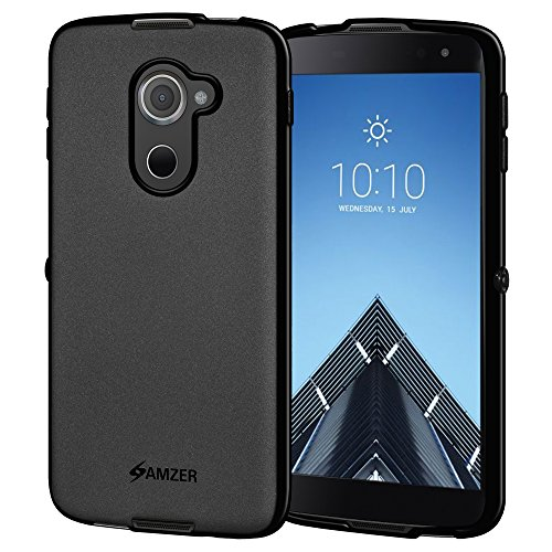 Amzer Pudding TPU Slim Soft Gel Case Thin Protective Cover Skin for Alcatel Idol 4S - Black