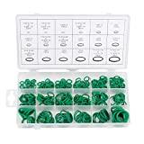 Gydandir Green Rubber O-Ring Sealing Gasket Washer Seal Assortment Set for Professional Plumbing, Automotive, Mechanic,Repairs,Air or Gas Connections (270 PCS)