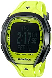Timex Unisex TW5M00400 Ironman Sleek 150 TapScreen Full-Size Neon Green Resin Strap Watch