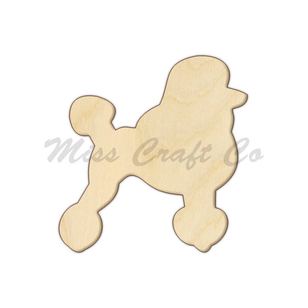 Amazon.com: Poodle Wood Shape Cutout, Wood Craft Shape, Unfinished ...