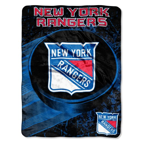 fan products of Officially Licensed NHL New York Rangers Ice Dash Micro Raschel Throw Blanket, 46