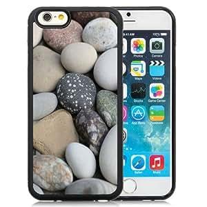 NEW Unique Custom Designed iPhone 6 4.7 Inch TPU Phone Case With Soft White Beach Rocks_Black Phone Case