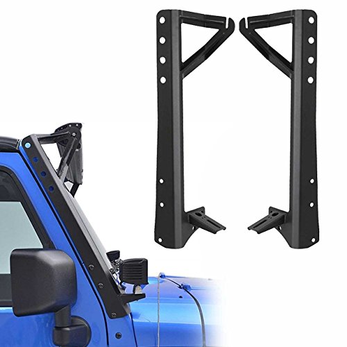 ALAVENTE LED Light Bar Black JK Jeep Wrangler Upper Windshield Mount Brackets