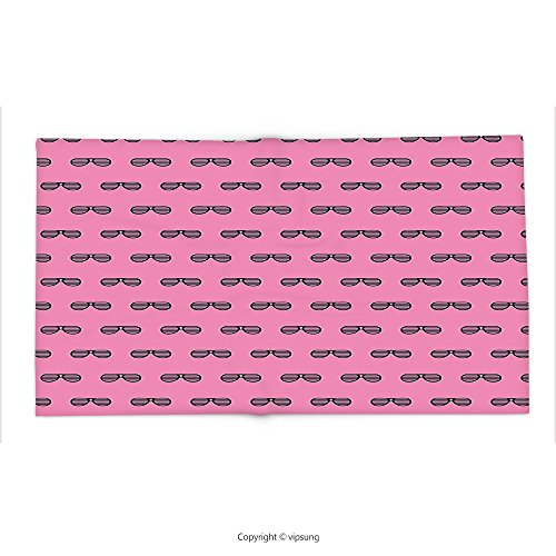 Custom printed Throw Blanket with Pink Retro Vintage House Club Party 70s 80s Inspired Fancy Singer Sun Glasses Image Pink and Black Super soft and Cozy Fleece - 80s Sunglasses Blade