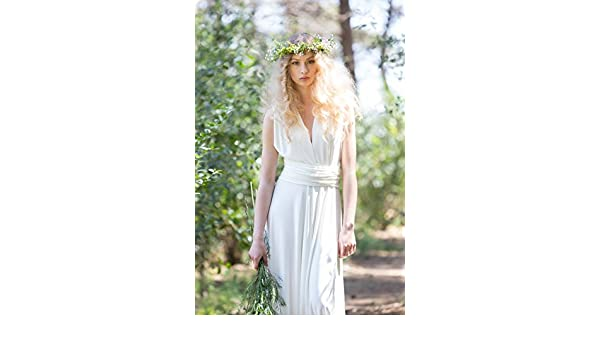 Amazon.com: Rustic chic bridal gowns, wedding dress, ivory bridal gown, woodland wedding dress, long white dress, marriage, weddings, long bridal gowns: ...