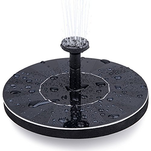 Luimihot Solar Fountain Pump, 1.4w Solar Bird bath Fountain Pump Panel Kit Outdoor Watering Submersible Pump Floating Fountain Pond for Bird Bath,Fish Tank, Garden Decoration