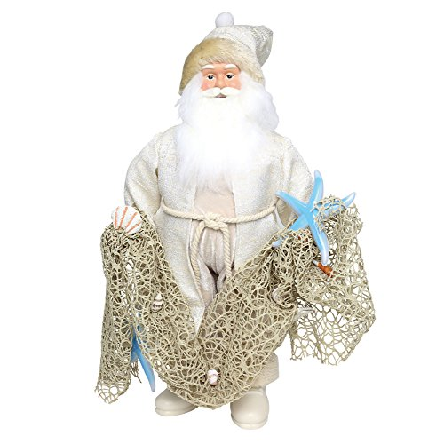 Department 56 Coastal Santa Figurine, Multicolor