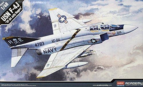 Academy Aircraft Plastic kit 1/48 USN F-4J VF-84 Jolly Rogers #12305 (Usn Jolly Vf 84 Rogers)