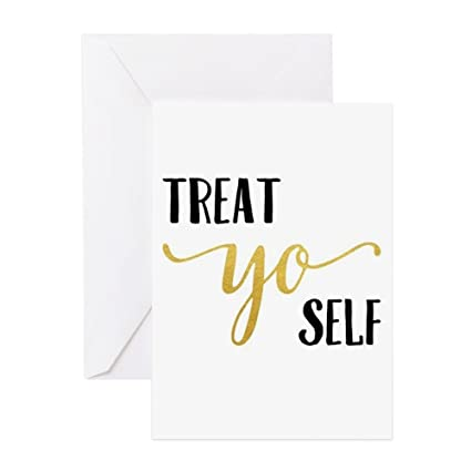 Amazon cafepress treat yo self greeting cards greeting cafepress treat yo self greeting cards greeting card note card birthday card m4hsunfo