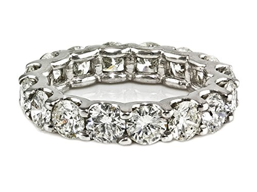 5.00ct Floating Round Diamond in 14K White Gold Eternity Band Ring - Size 7 by UltimateChoice
