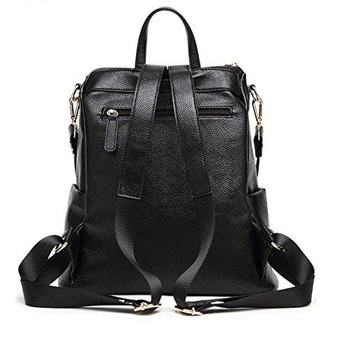 dos à sac sac sac quotidien dos cuir dos à ville à Black sac Grand cuir en à véritable pour occasionnel sac Vintage femmes Moyen en GSHGA les chaud dos noir fqzIHH