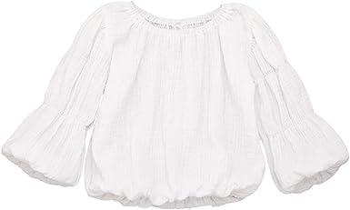 K-Youth Ropa Bebe Niña Invierno Algodón Lino Camiseta Manga de la Linterna Bebe Niños para 1 a 4 año Blusa Bebe Ropa Recien Nacido Niño Otoño Chandal Niñas Top Bebes Primavera: Amazon.es: