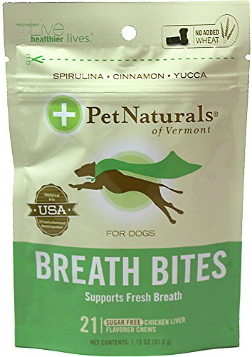 Pet Naturals Of Vermont Breath Bites for Dogs-21 ct-Bag