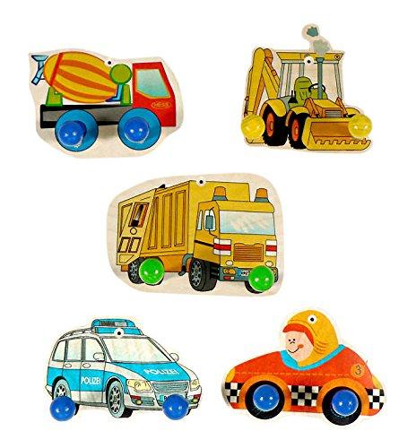 Model Sortiert Garderobe Fahrzeuge aus Holz, Hess Holzspielzeug 30314