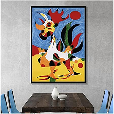 WSTDSM Famous Joan Miro Abstract Watercolor Canvas Painting Posters and Prints Wall Art Picture For Living Room Home Decoration -20X28 Inches X1 No Frame