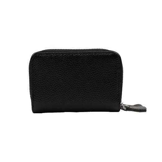 a07d5c528d04 Women's Girl Leather Cute Double Wallet RFID Credit Card Zipper Card ...