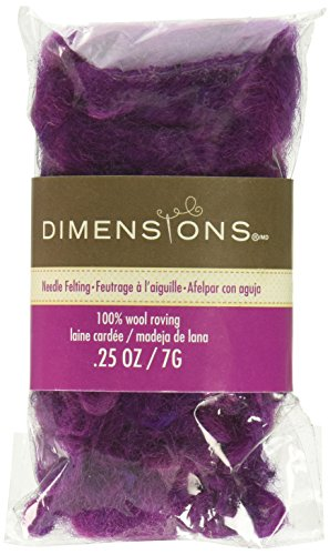 Dimensions Feltworks Roving-Variegated Purple Curly