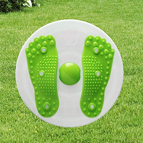 HDT Balance Board Twist Waist Plate Fitness Equipment for Body Exerciser Weight Loss Slimming Legs Magnet Wriggling Plates (Green) (Best Wii Fit Workout For Weight Loss)